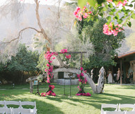 Bougainvillea wedding at Casa Cody in Palm Springs