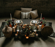 Industrial elopement inspired by African textiles in Edmonton