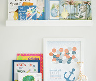 Classic modern boy's nursery and newborn photos in Virginia