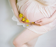 Floral maternity portraits on filmFloral maternity portraits on film