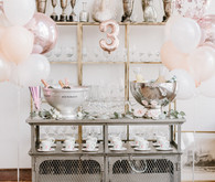 Luxe Parisian tea party 3rd birthday