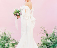 Modern feminine ALL PINK bridal editorial on 100 Layer Cake