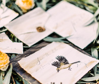 Bird inspired invitations