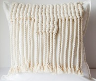 Knotted pillow hangings