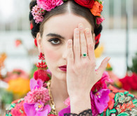 Bright colorful Frida Kahlo inspired wedding editorial