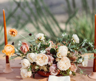 West Pinto terracotta inspired wedding editorial in West Texas