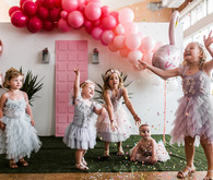 Palm Springs themed birthday party with THE Pink Door
