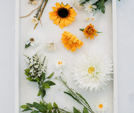 DIY floral peace wreath