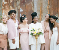 Blush + yellow wedding inspired by daffodils