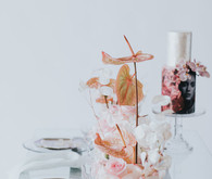 Ethereal modern bridal inspiration with tropical pink details