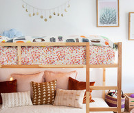 Modern earth tone girl's room from Veneer Designs