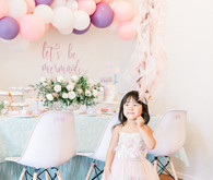 Pastel mermaid birthday party