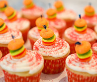 Burger themed baby shower for
