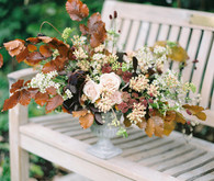 Autumnal Danish Hygge inspired wedding editorial with a gorgeous floral installation