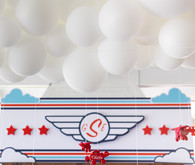 Airplane themed boy's birthday party