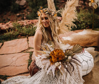Bohemian butterfly-inspired fall wedding ideas in Sedona
