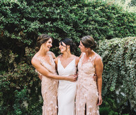 Blush bridesmaids dress