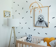 A teensy tiny modern nursery in 52 sq ft
