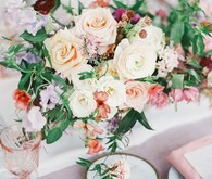 Pastel floral garden inspired wedding at a gorgeous French venue in San Diego