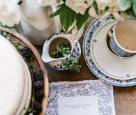 Classic french baby shower with navy details