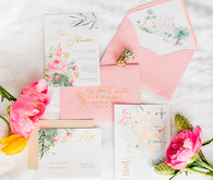 tropical pink invites