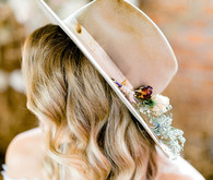 Bride in a hat