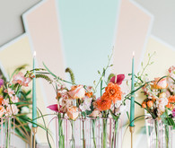 Modern spring wedding decor