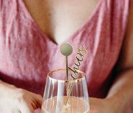 Gold cocktail straws