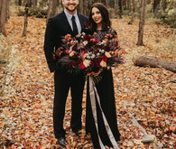 The moodiest gothic forest wedding with gorgeous fall florals