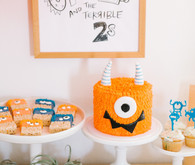 Terrible Twos monster-themed second birthday