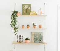 Earthy modern pastels for a baby boy's nursery in Portland from Paige Jones