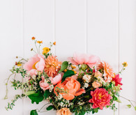 a colorful backyard wedding in Santa Barbara on a super reasonable budget