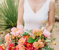 spectacular coral peony bouquet
