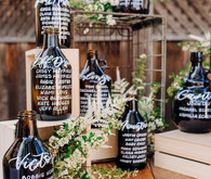 Beer jug escort cards