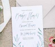 Handwritten watercolor invitations