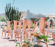 Copper ceremony chairs