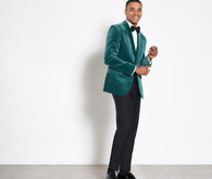 Green velvet mens jacket