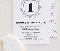 1st birthday party invites