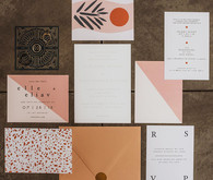 Modern designer wedding invites