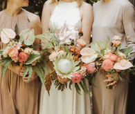 tropical pastel bridal bouquets