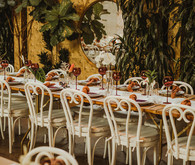 Modern tropical DTLA wedding with designer details at The Millwick