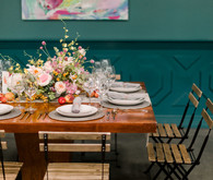 Modern foodie wedding at the Fig House