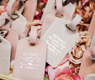 Luggage tag wedding favors