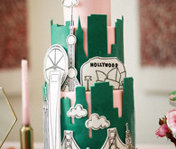 creative graphic wedding cake