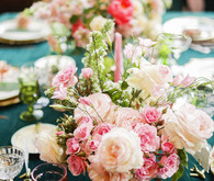 Emerald and pink travel inspired wedding at the USC University Club