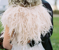 feather winter wedding cape