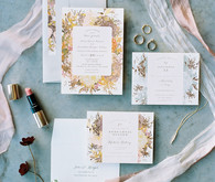 dusty rose and mauve  wedding invitations