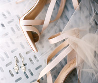 blush scrappy bridal shoes