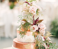 Rose gold wedding cake