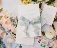 Classic pastel wedding invitations
